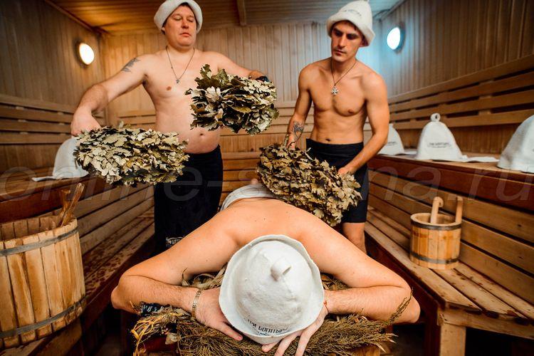 Три Богатыря, мужская общественная баня
